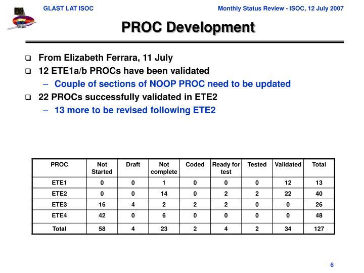PROC Development