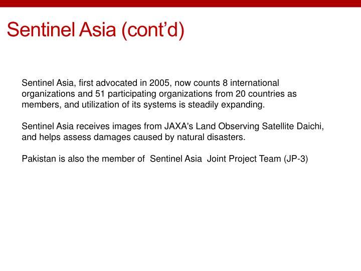 Sentinel Asia (cont'd)