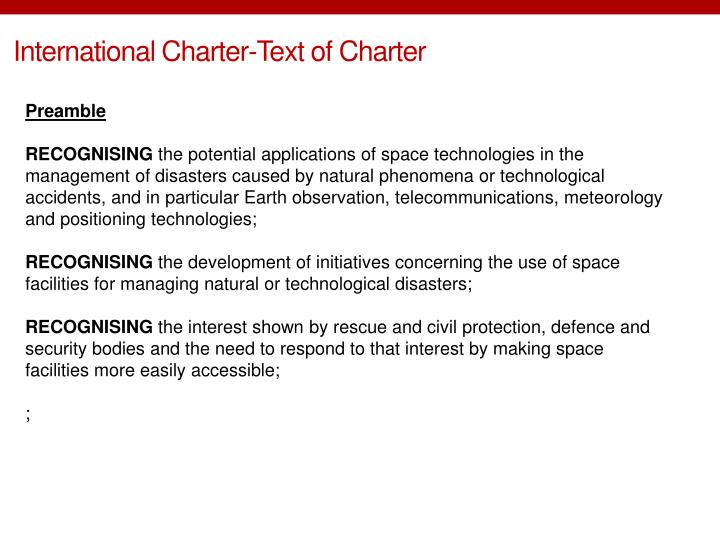 International Charter-Text of Charter