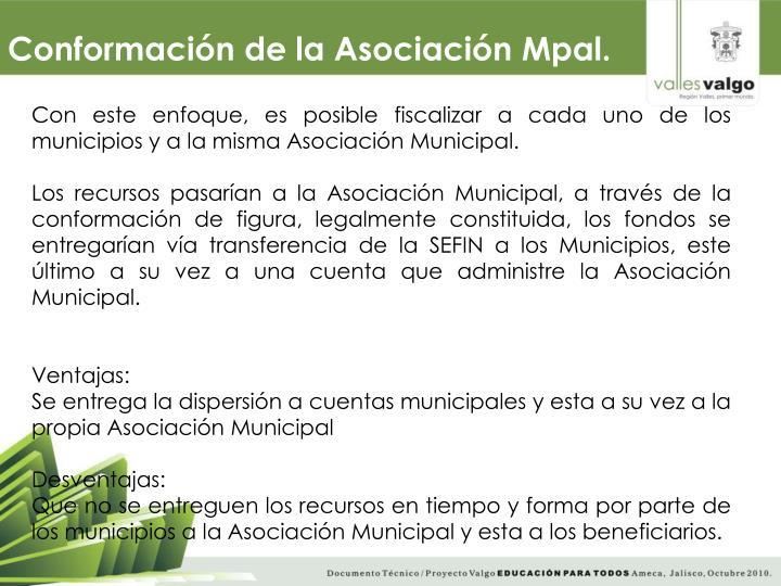Conformación de la Asociación Mpal.