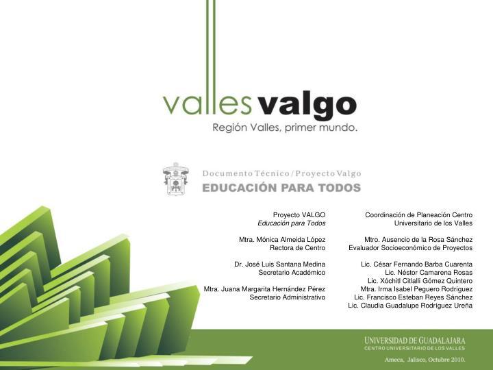Proyecto VALGO