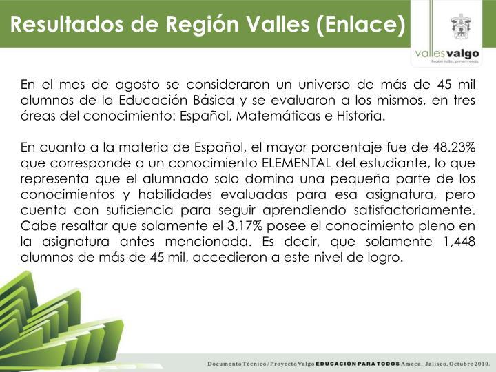 Resultados de Región Valles (Enlace)