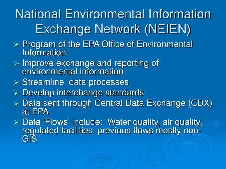 National Environmental Information Exchange Network (NEIEN)