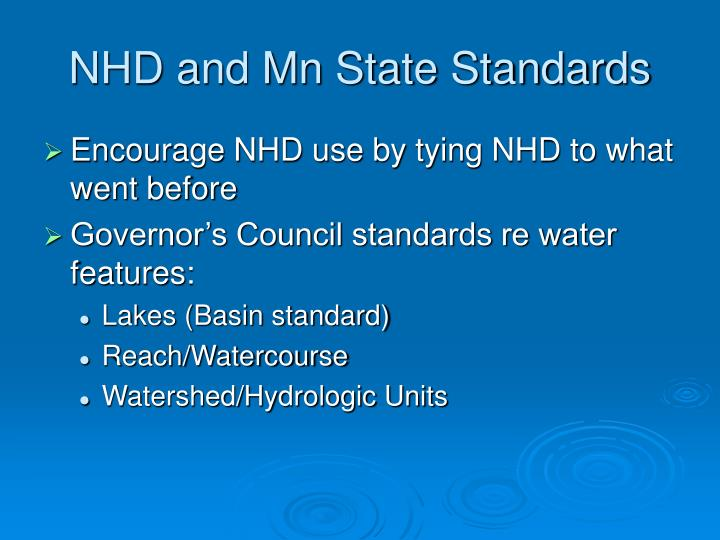 NHD and Mn State Standards