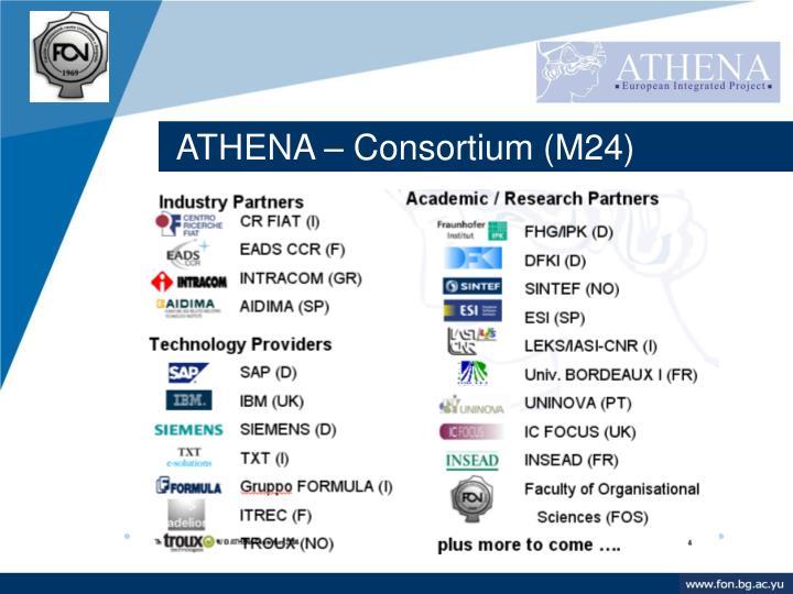ATHENA – Consortium (M24)