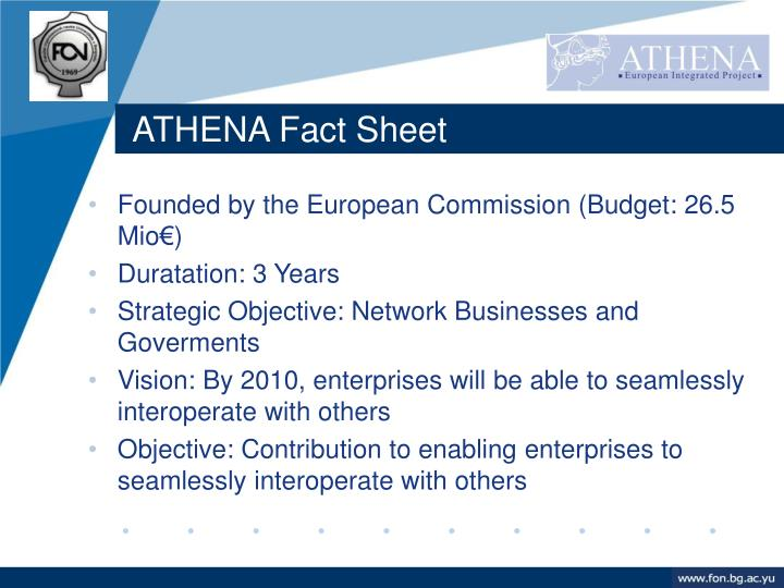 ATHENA Fact Sheet
