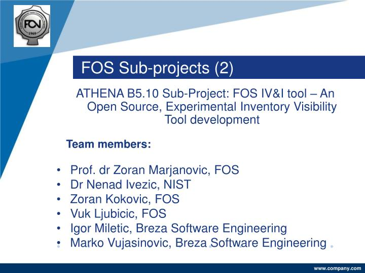 FOS Sub-projects (2)