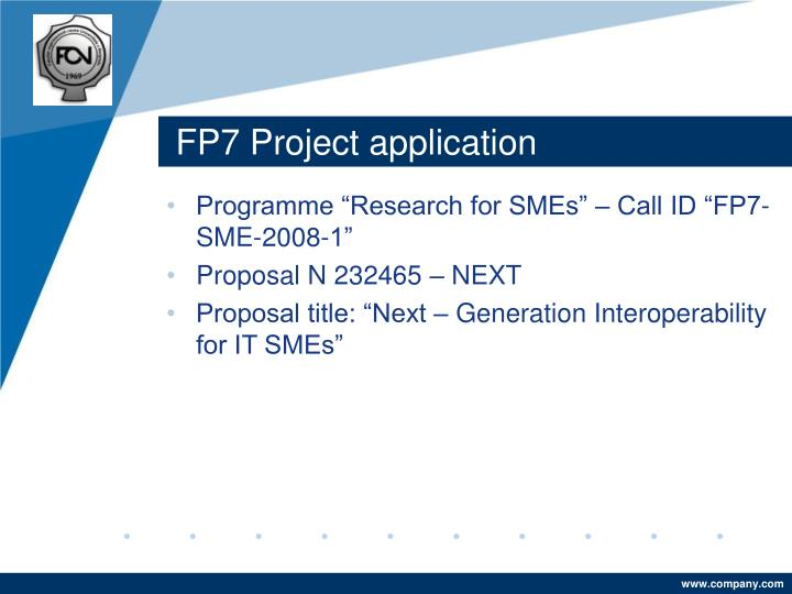 FP7 Project application
