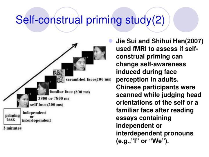 Self-construal priming study(2)
