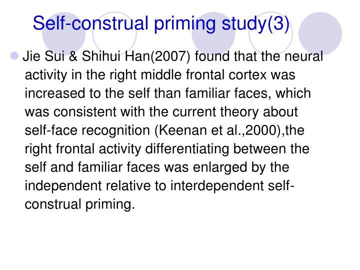 Self-construal priming study(3)