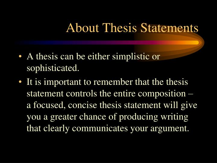 About Thesis Statements