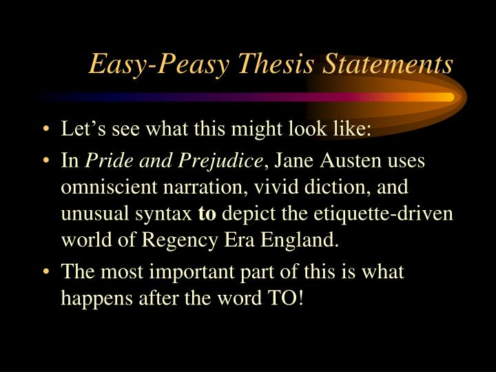 Easy-Peasy Thesis Statements
