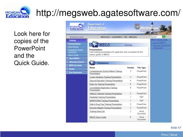 http://megsweb.agatesoftware.com/