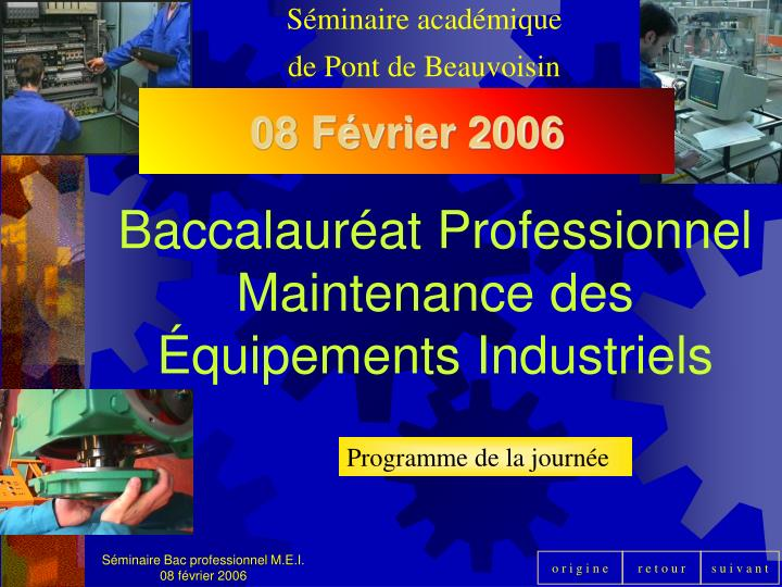 Baccalaur at professionnel maintenance des quipements industriels