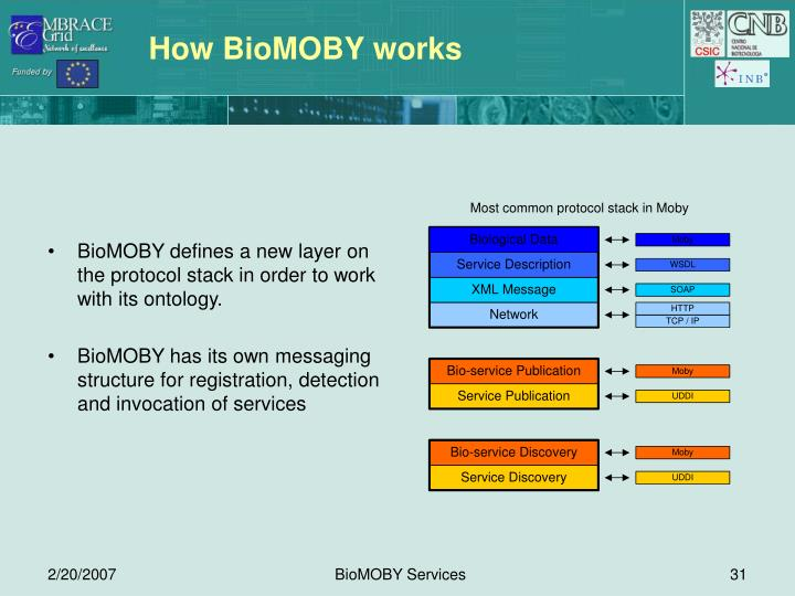 How BioMOBY works
