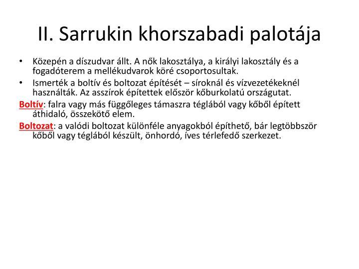II. Sarrukin khorszabadi palotája