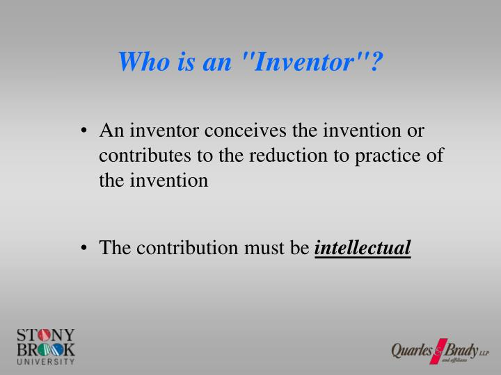 "Who is an ""Inventor""?"