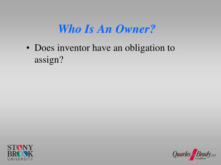 Who Is An Owner?