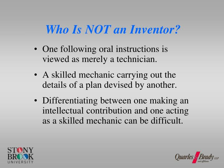 Who Is NOT an Inventor?