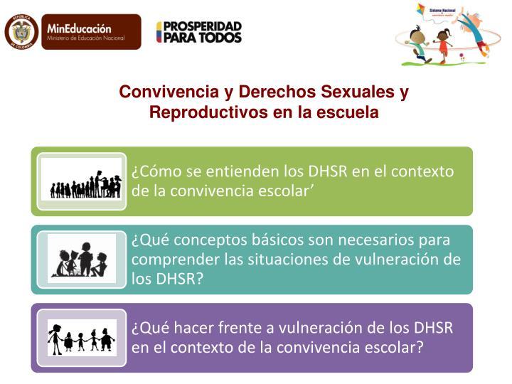 Convivencia y Derechos Sexuales y