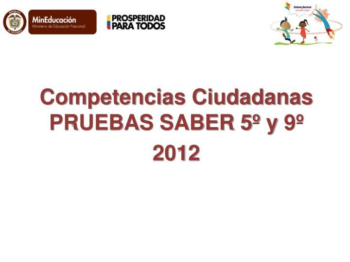 Competencias Ciudadanas PRUEBAS SABER 5º y