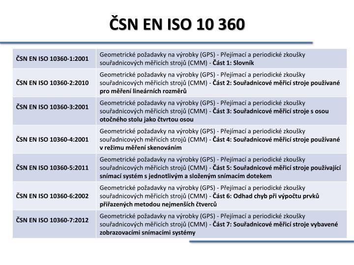 ČSN EN ISO 10 360