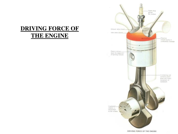 DRIVING FORCE OF THE ENGINE