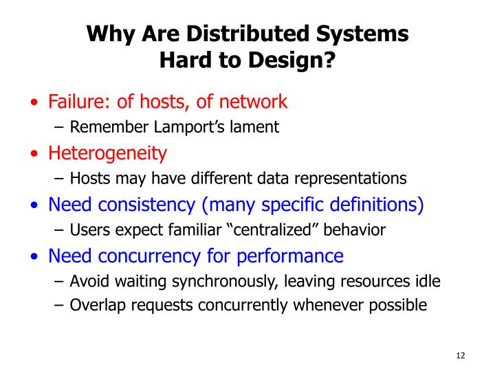 Why Are Distributed Systems