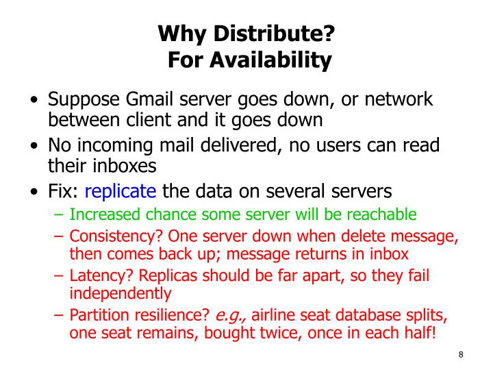 Why Distribute?