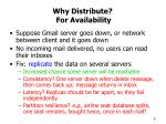 why distribute for availability