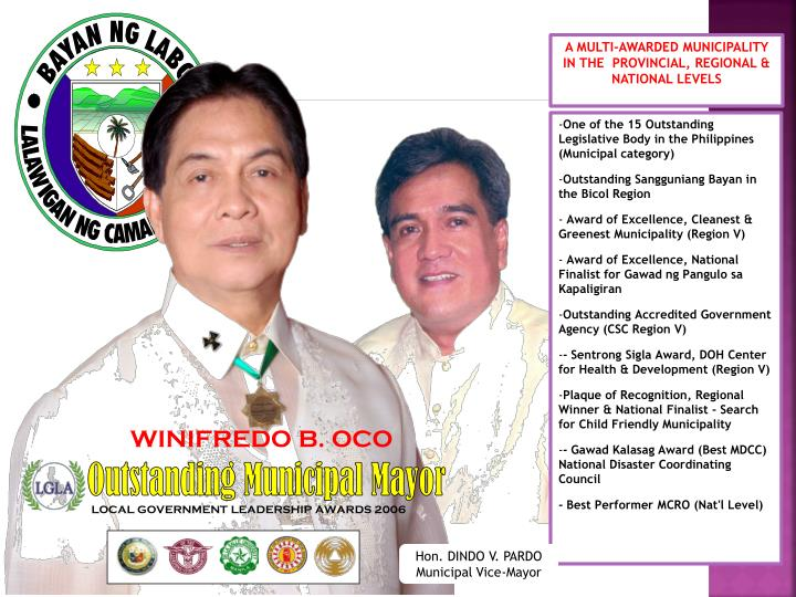 Outstanding Municipal Mayor