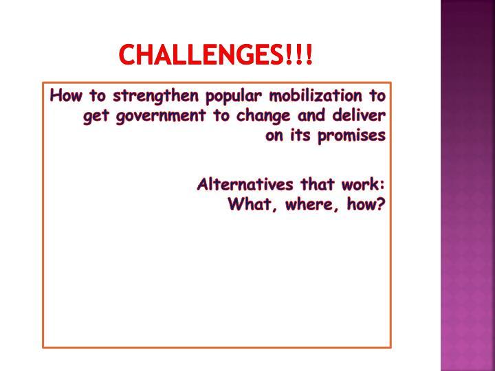 CHALLENGES!!!