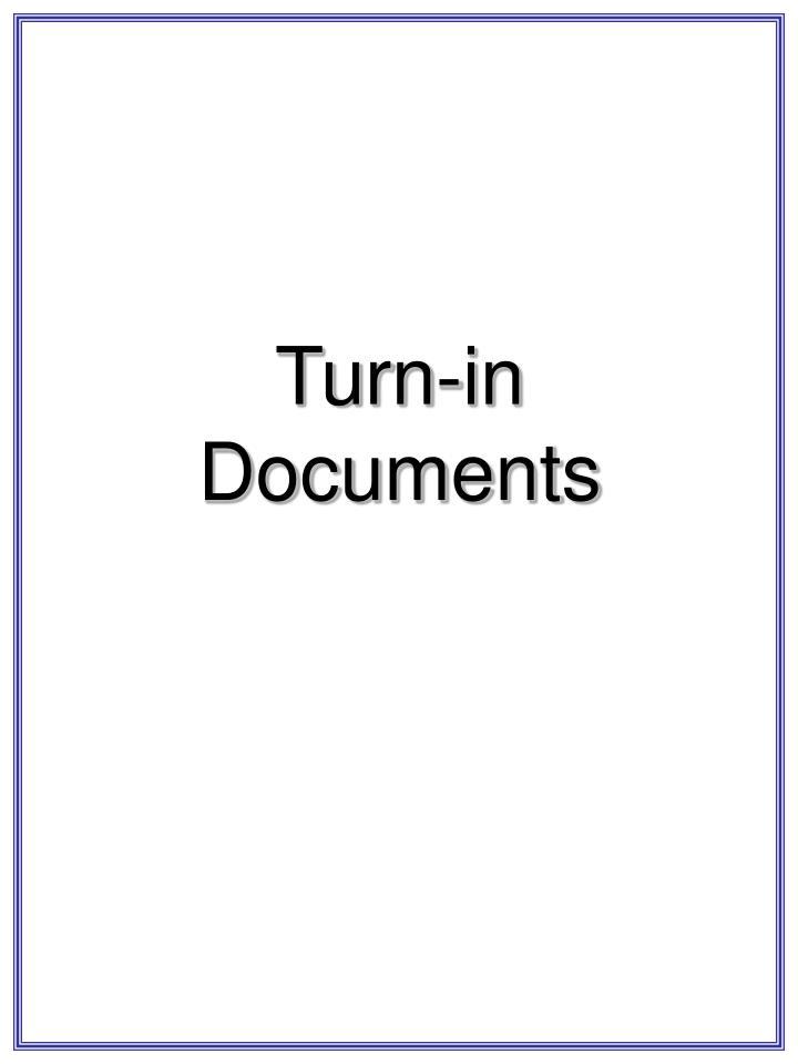 Turn-in
