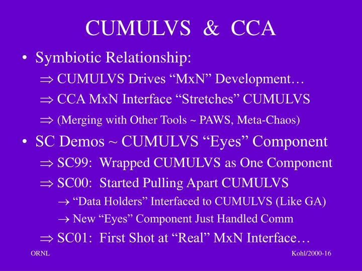 CUMULVS  &  CCA