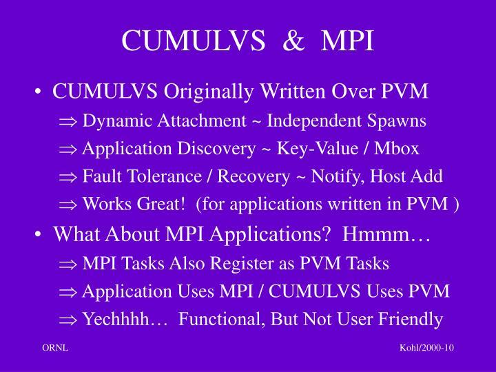 CUMULVS  &  MPI