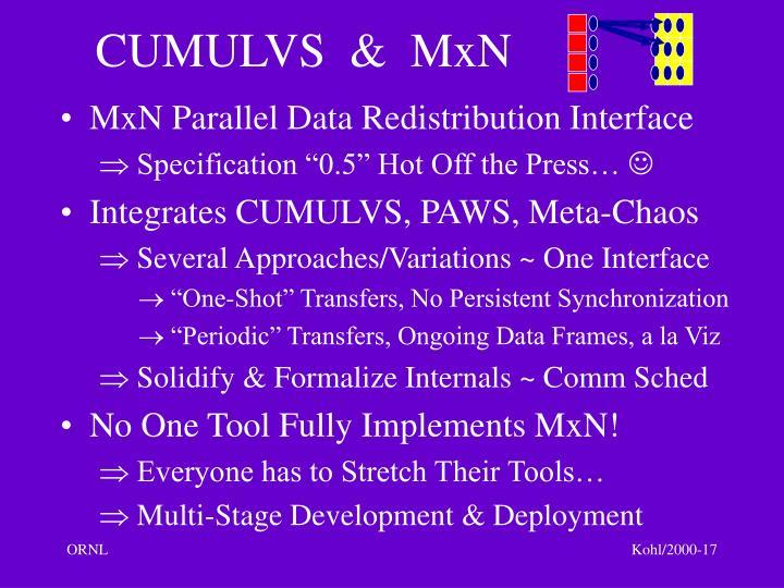 CUMULVS  &  MxN