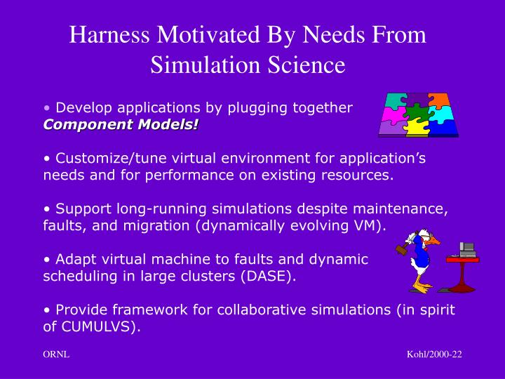 Harness Motivated By Needs From Simulation Science