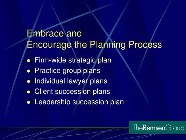Firm-wide strategic plan