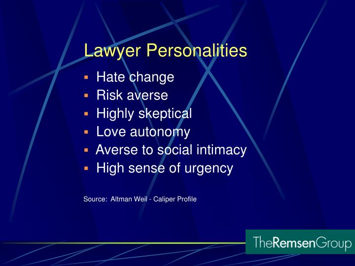 Lawyer Personalities