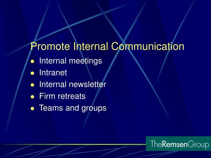 Internal meetings
