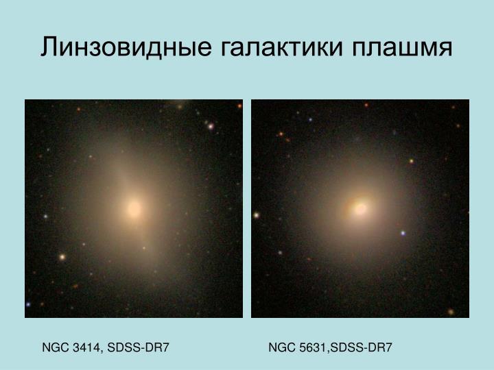 Линзовидные галактики плашмя