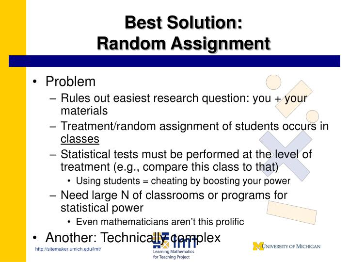 Purpose Of Random Assignment