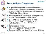 data address compression