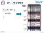 sbc an example