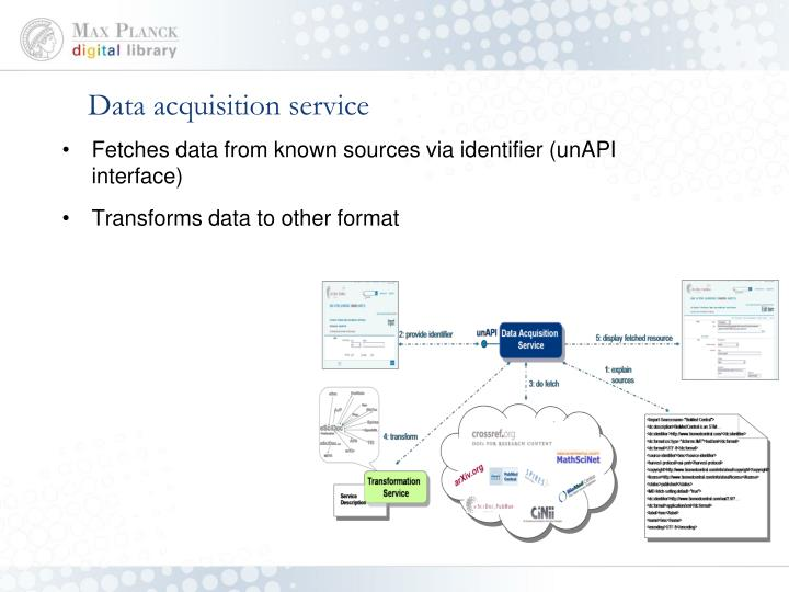 Data acquisition service