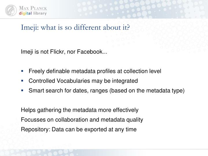 Imeji: what is so different about it?