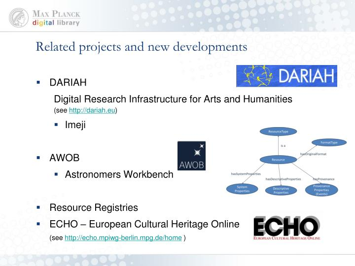 Related projects and new developments