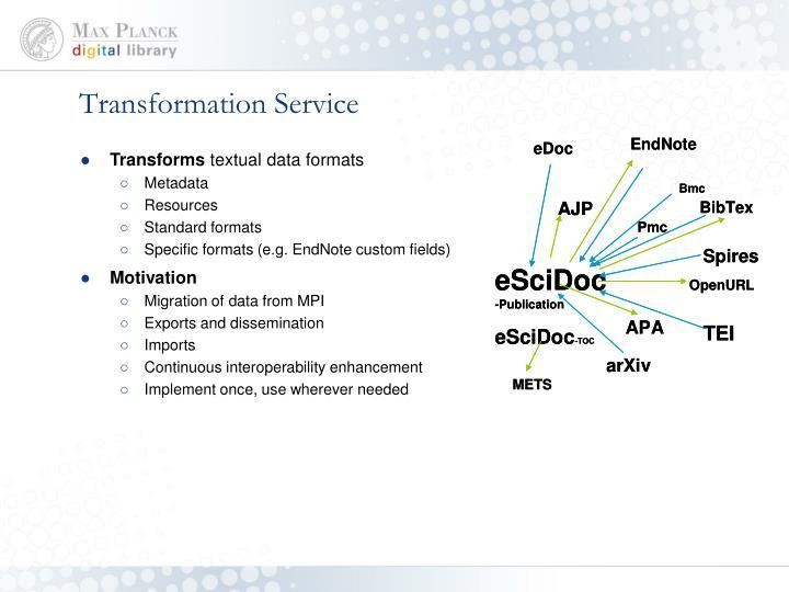 Transformation Service