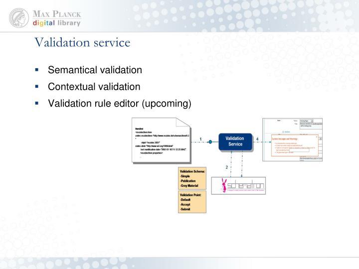 Validation service