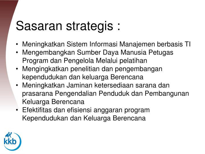 Sasaran strategis :